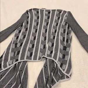 Volcom Sweaters - White and black drape front cardigan